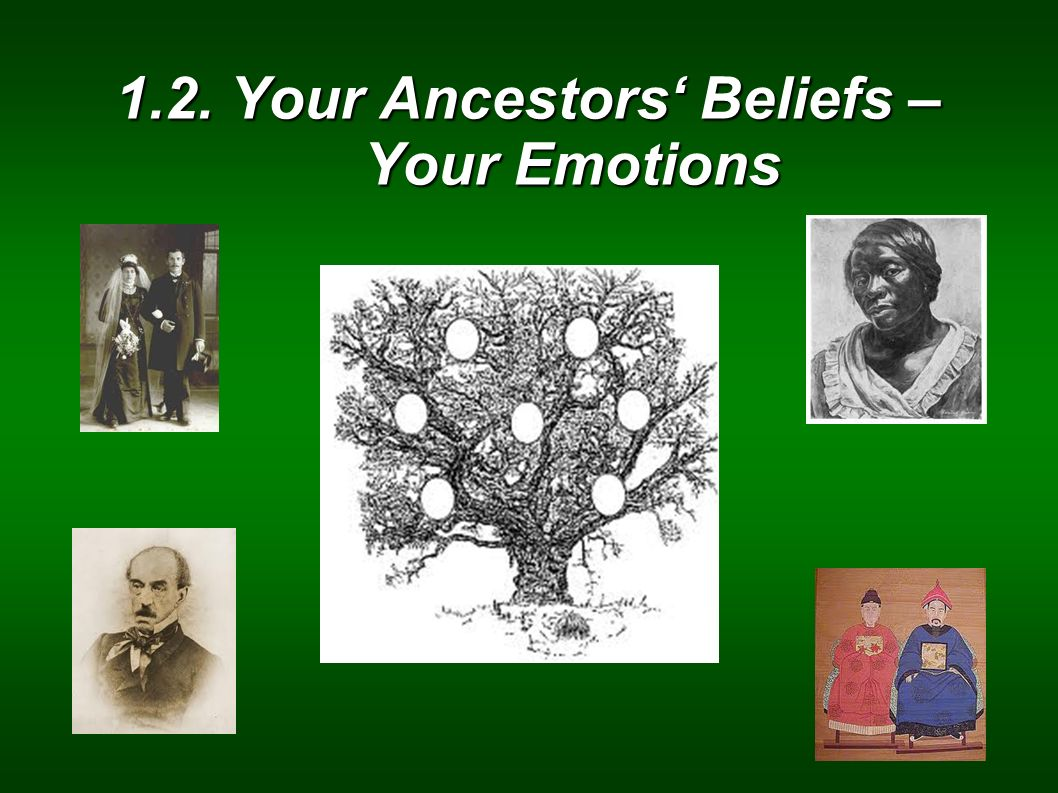 1.2. Your Ancestors' Beliefs – Your Emotions