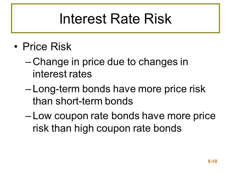 Interest Rate Risk Price Risk