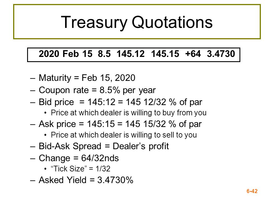 Treasury Quotations 2020 Feb