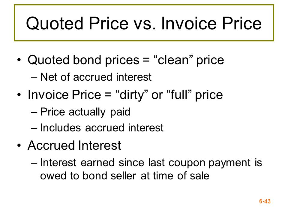 Quoted Price vs. Invoice Price