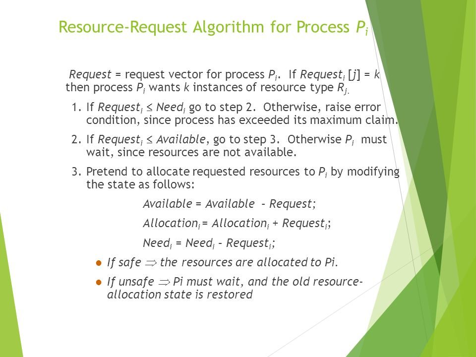 Resource-Request Algorithm for Process Pi