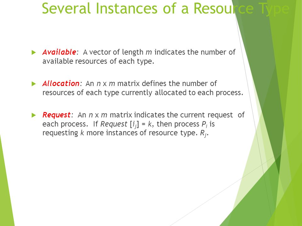 Several Instances of a Resource Type