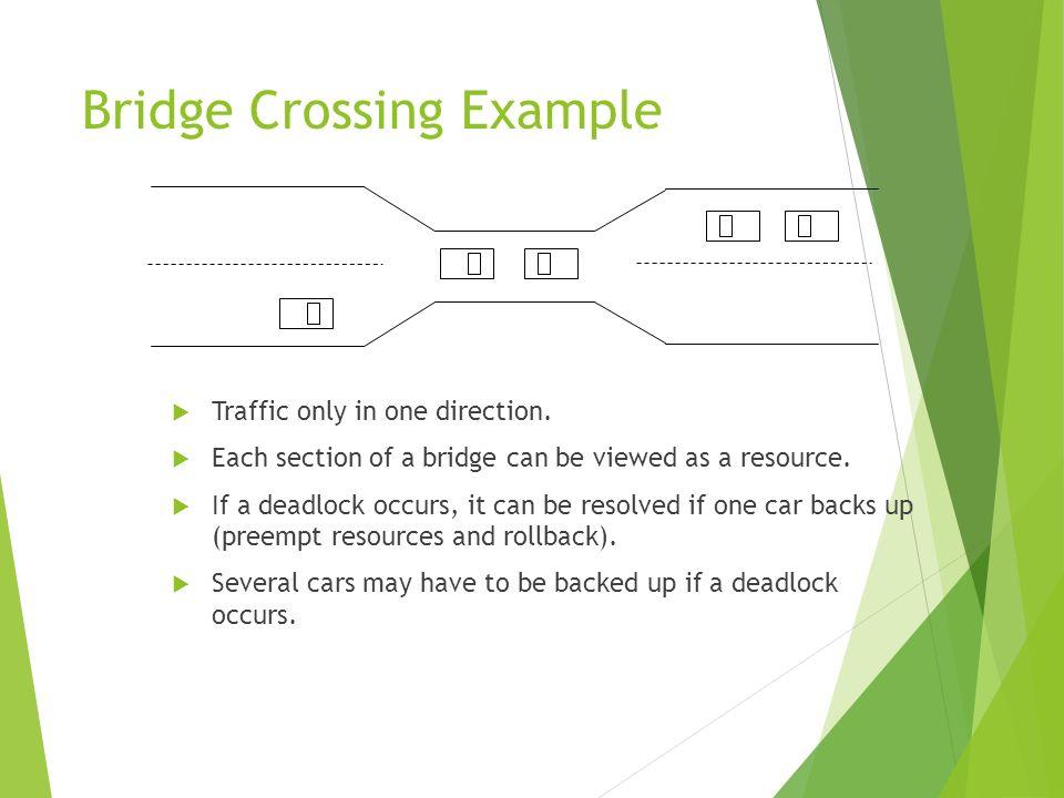 Bridge Crossing Example