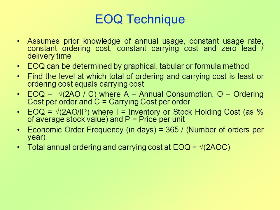 EOQ Technique