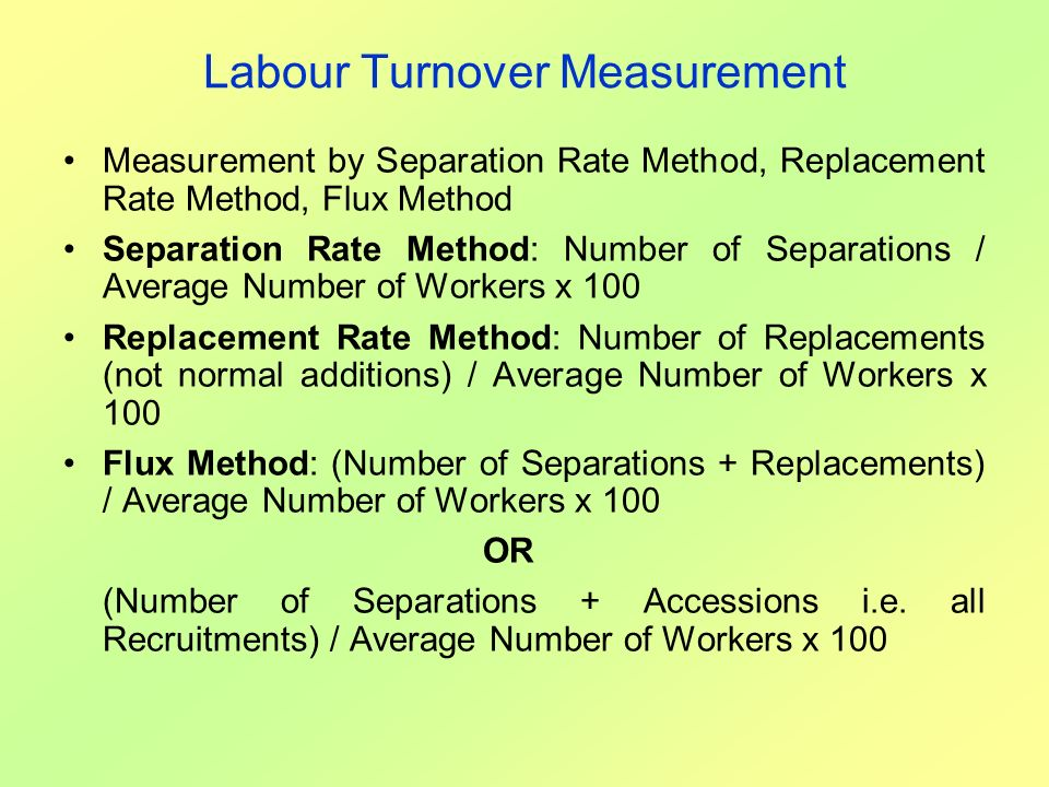 Labour Turnover Measurement