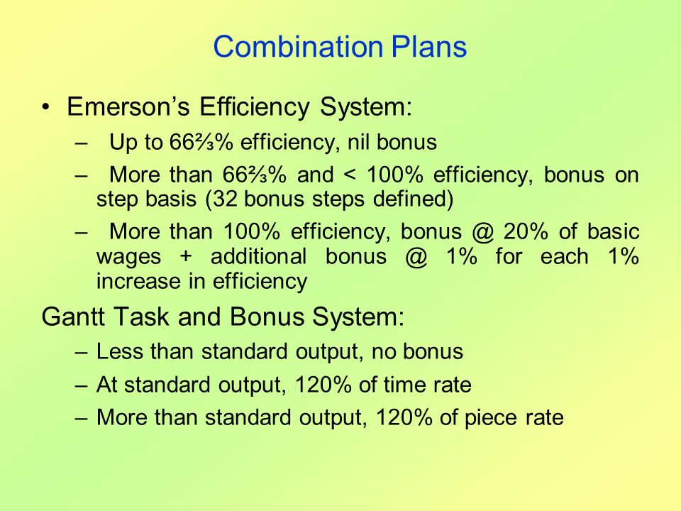 Combination Plans Emerson's Efficiency System: