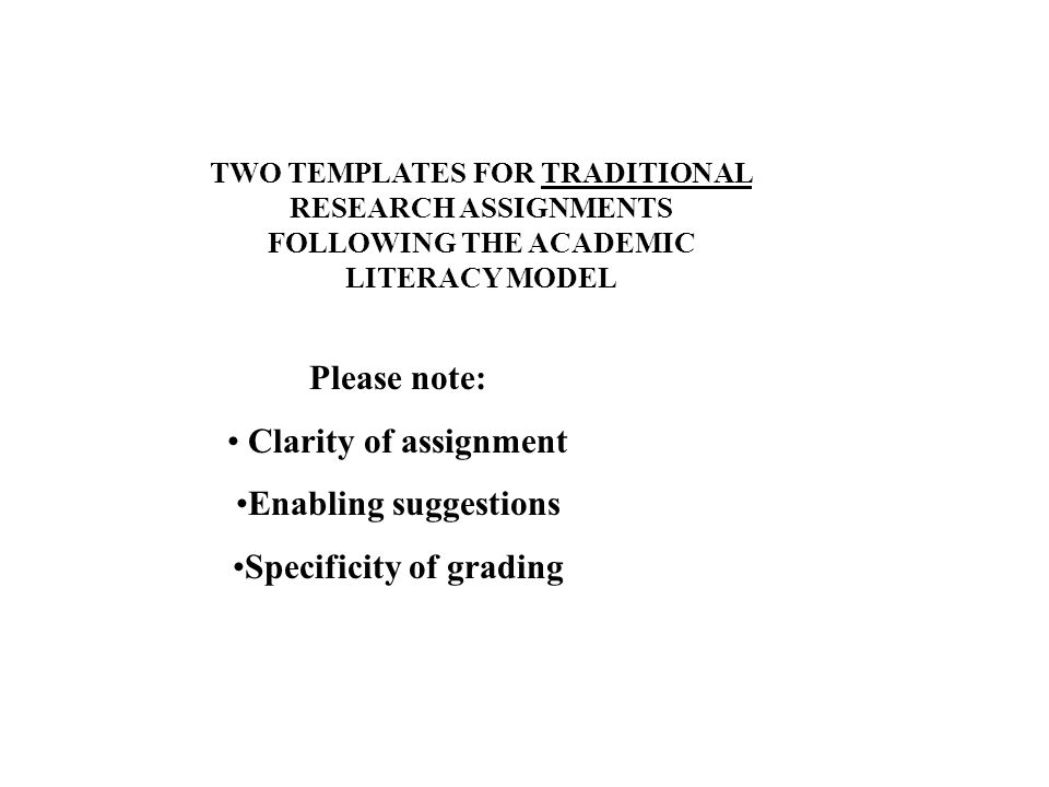 Specificity of grading