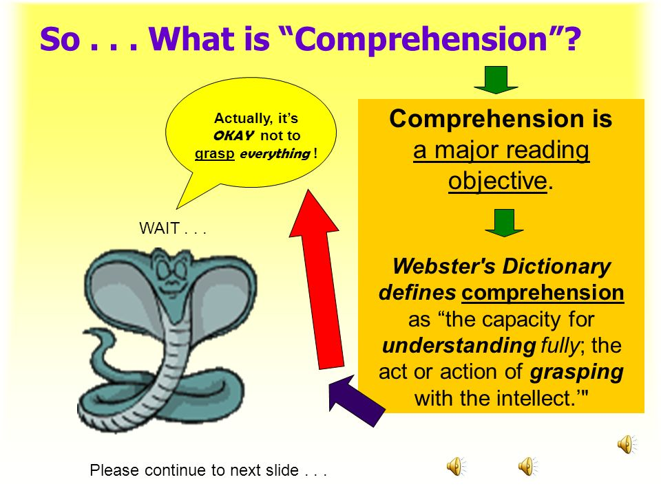 So . . . What is Comprehension