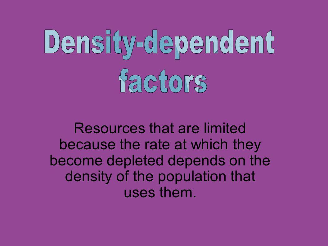 Density-dependent factors.
