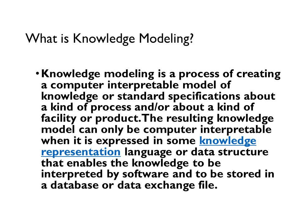 What is Knowledge Modeling