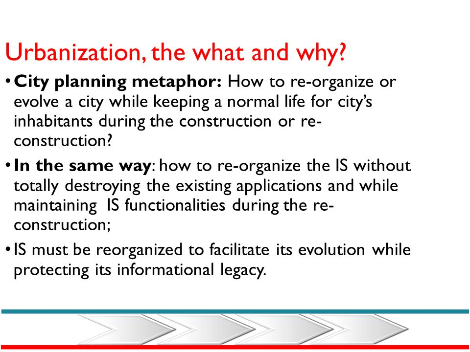 Urbanization, the what and why