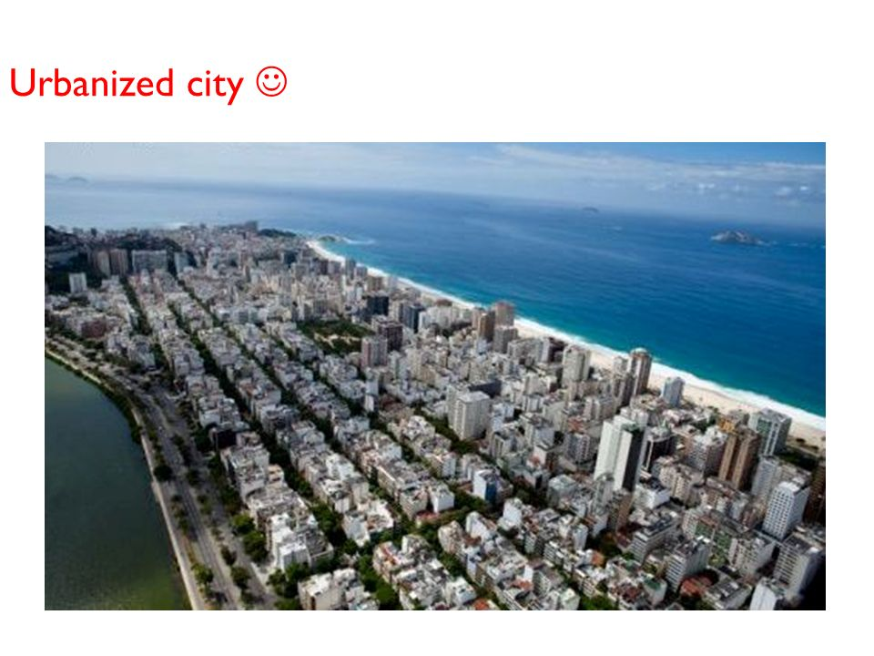 Urbanized city 