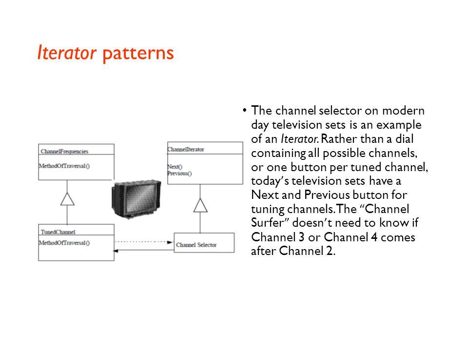 Iterator patterns