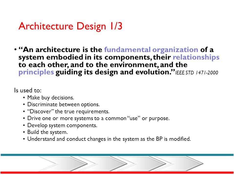 Architecture Design 1/3
