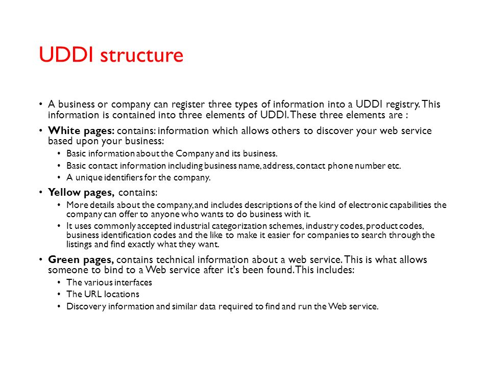 UDDI structure