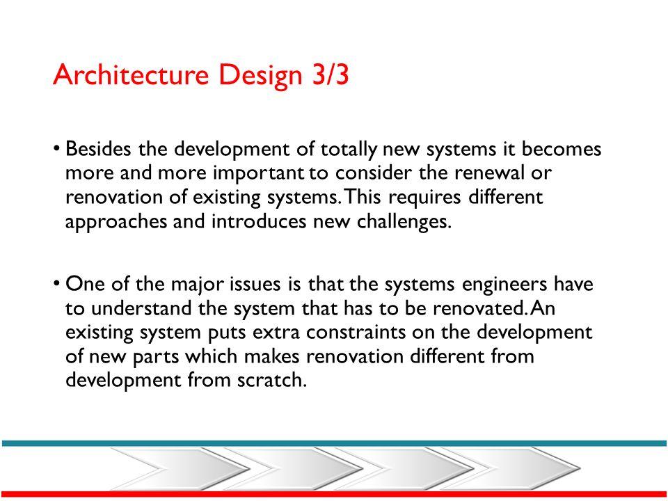Architecture Design 3/3