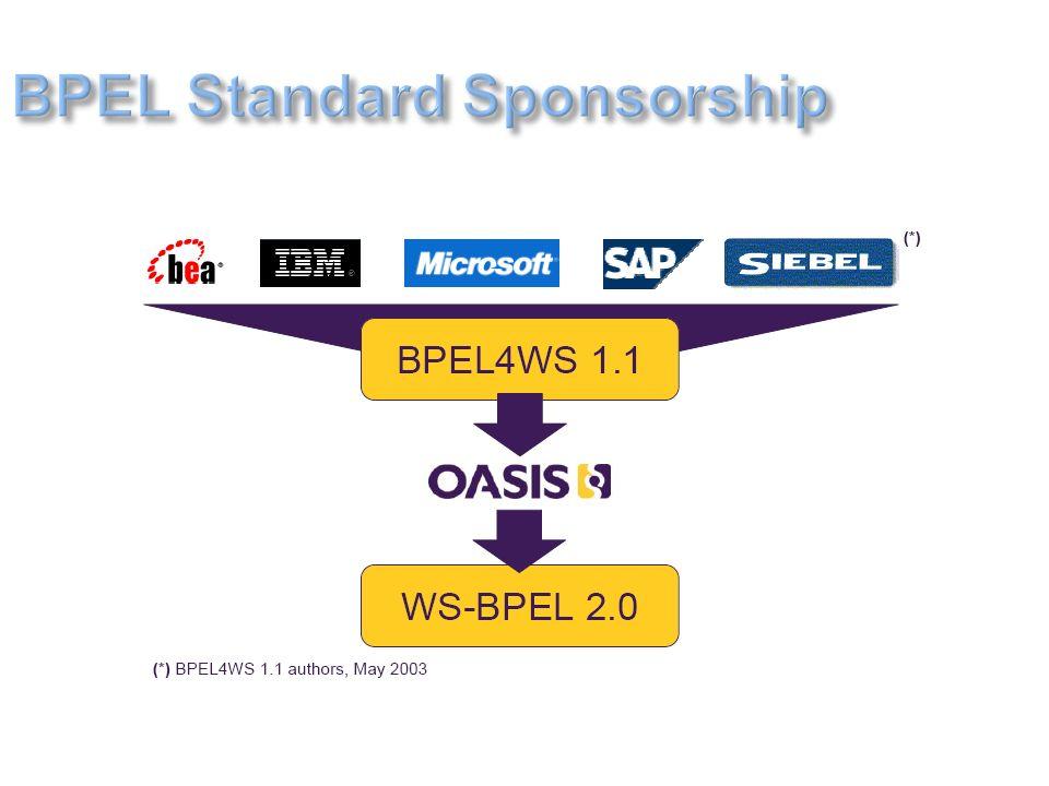 BPEL Standard Sponsorship