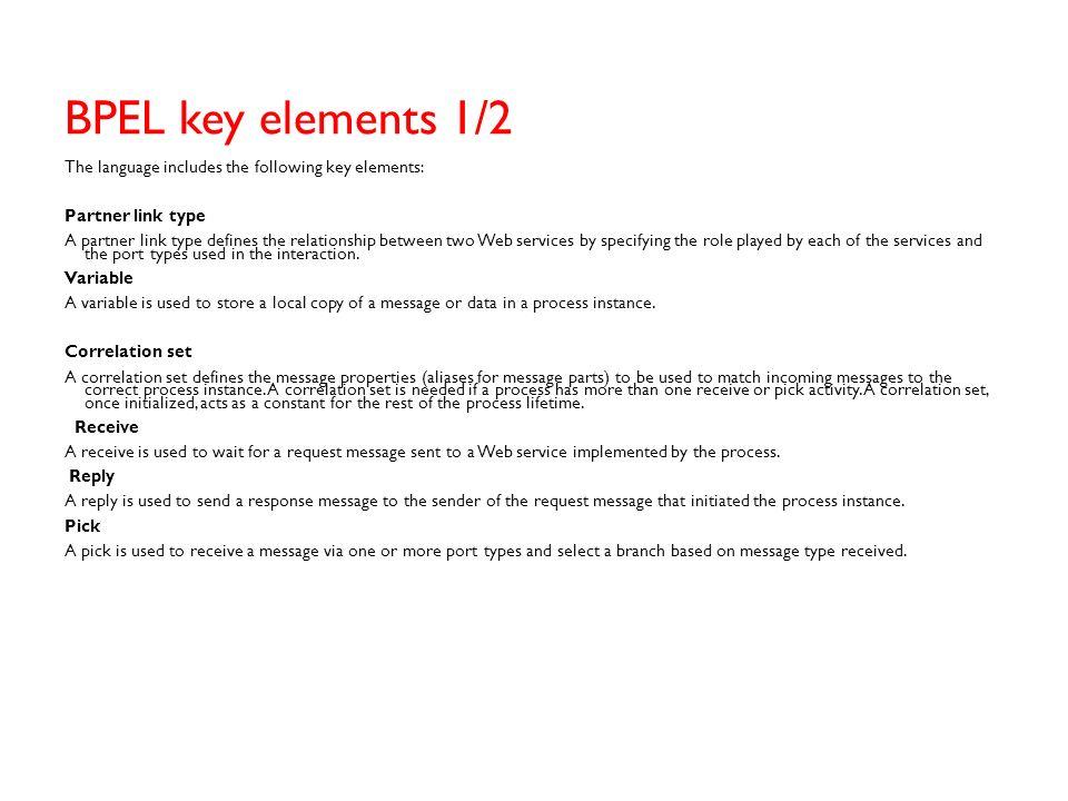 BPEL key elements 1/2