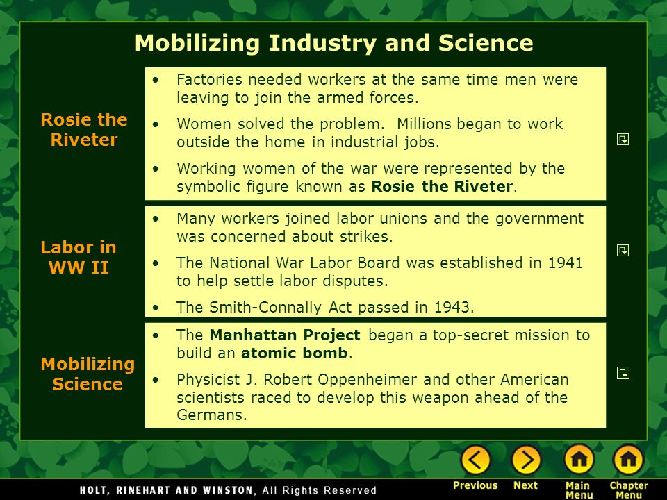 Mobilizing Industry and Science