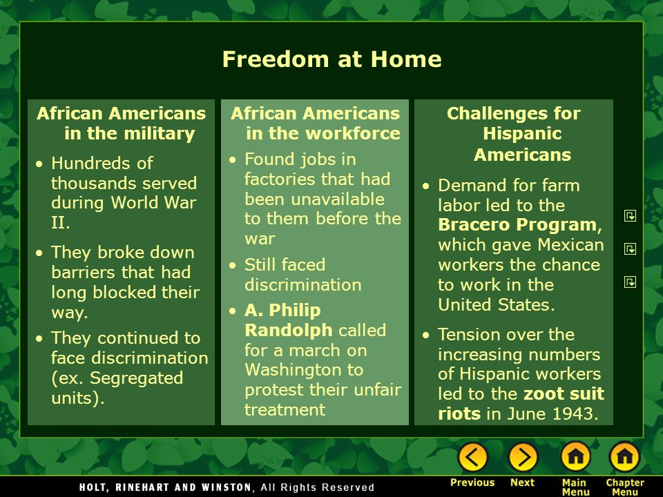 Freedom at Home African Americans in the military