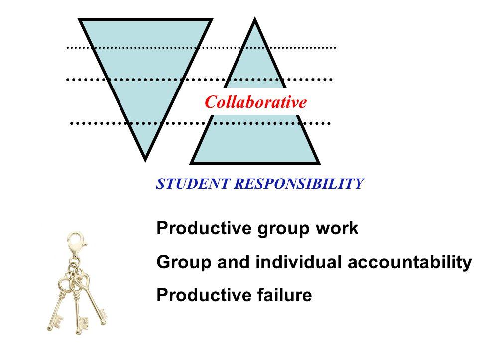 Group and individual accountability Productive failure