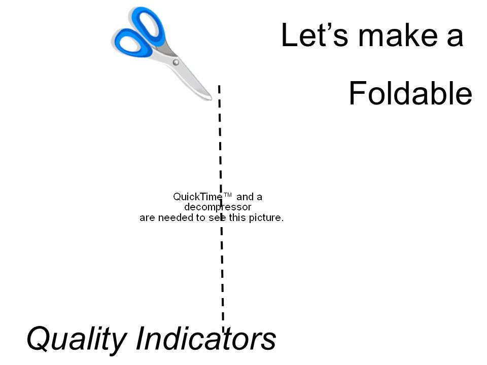 Let's make a Foldable Quality Indicators