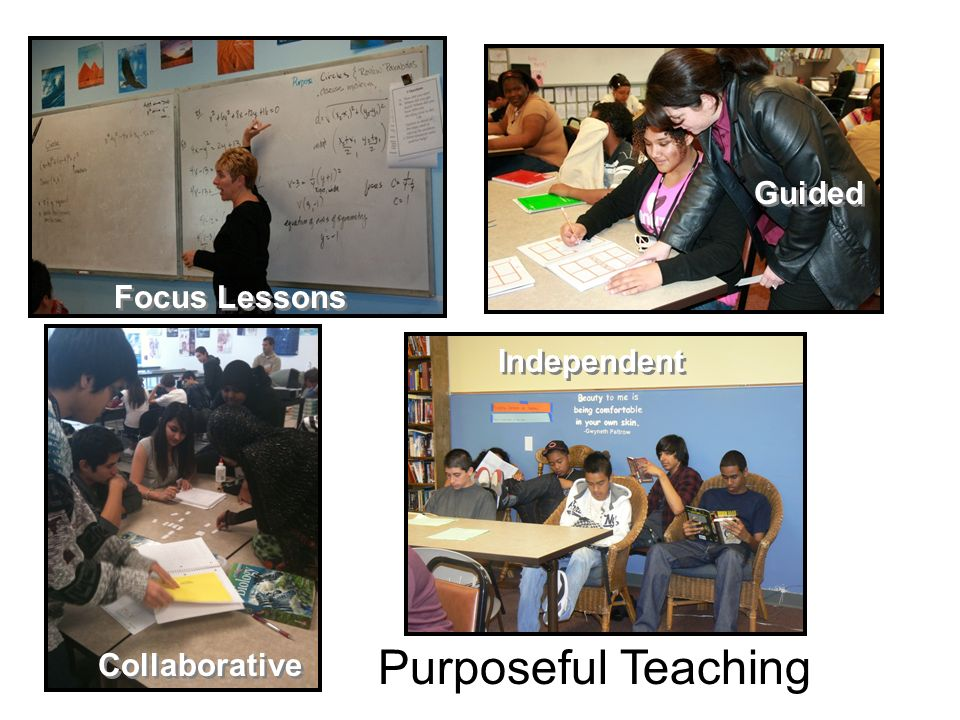 Guided Focus Lessons Independent Purposeful Teaching Collaborative