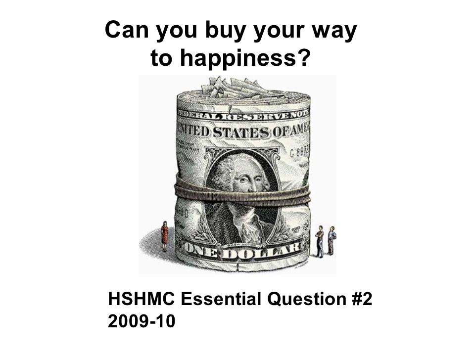 Can you buy your way to happiness