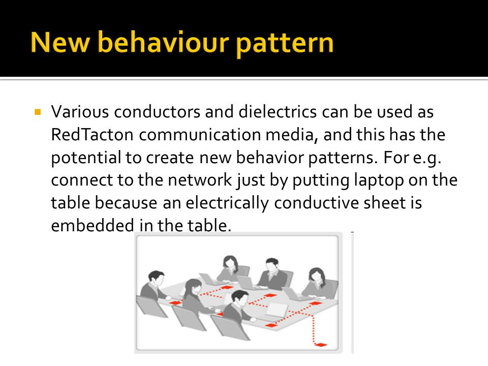 New behaviour pattern