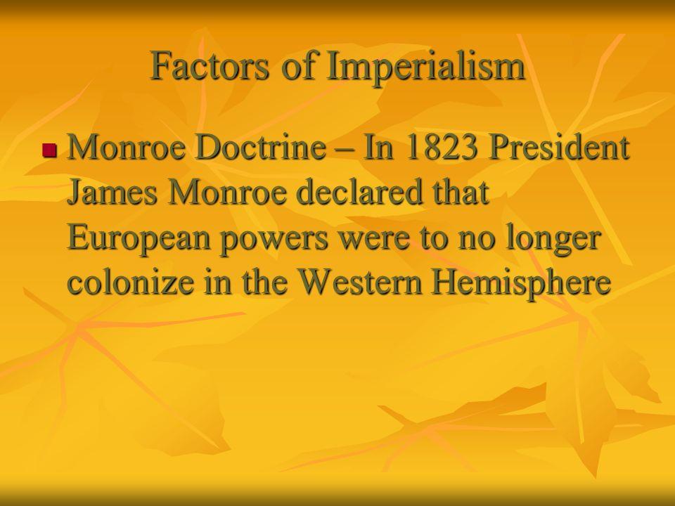 Factors of Imperialism