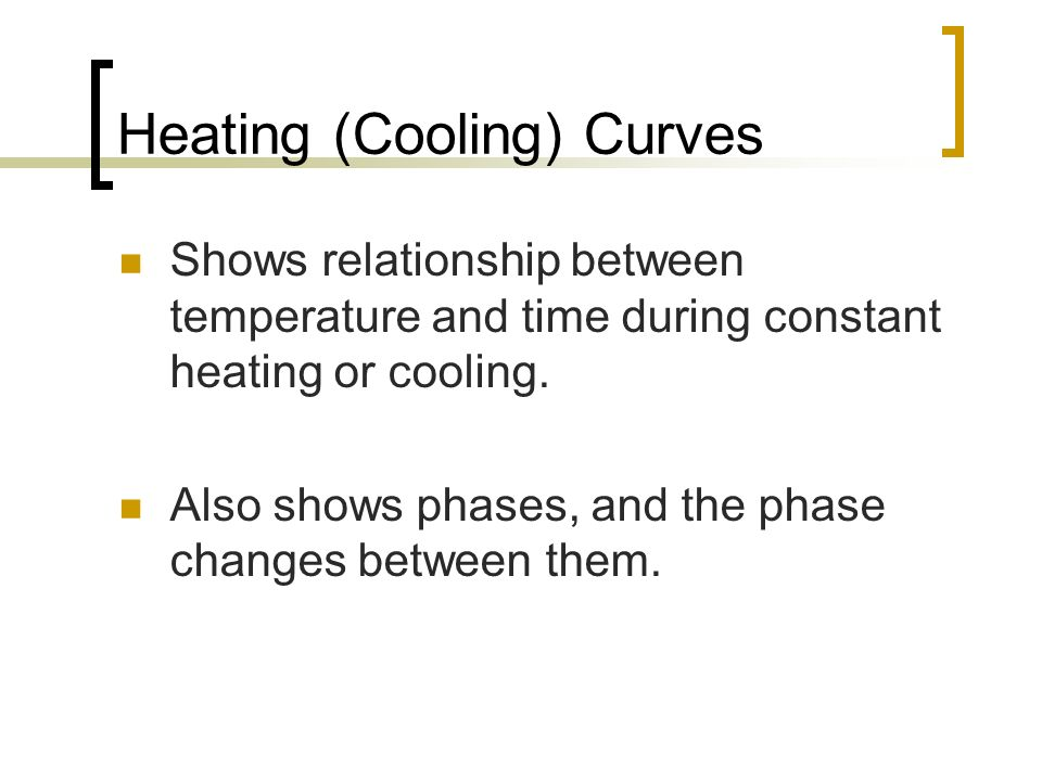 Heating (Cooling) Curves