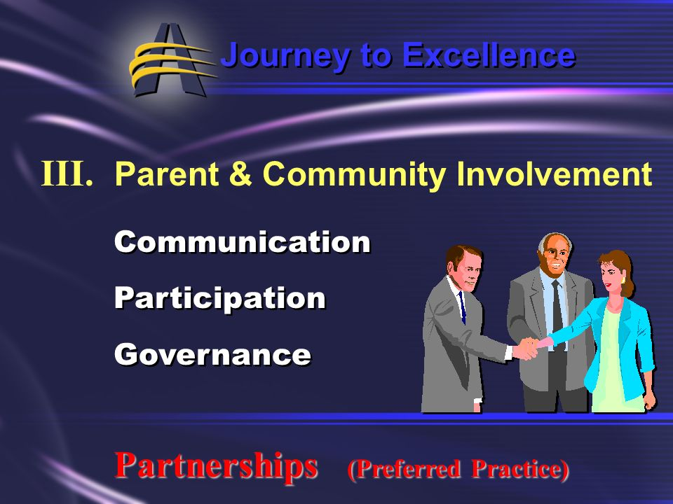 III. Parent & Community Involvement