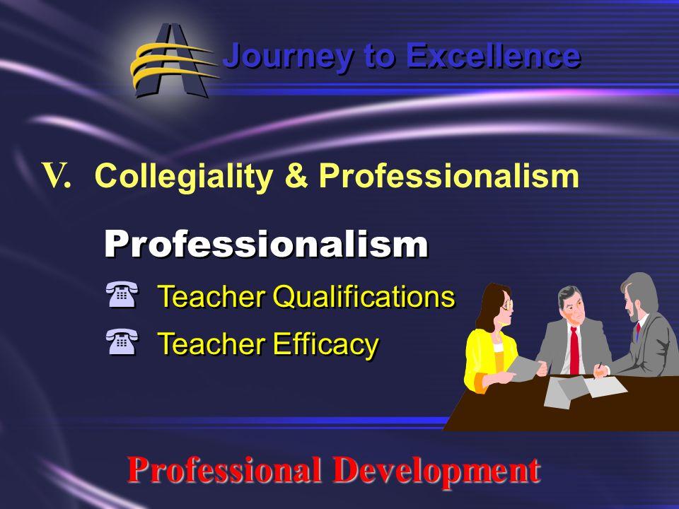 V. Collegiality & Professionalism