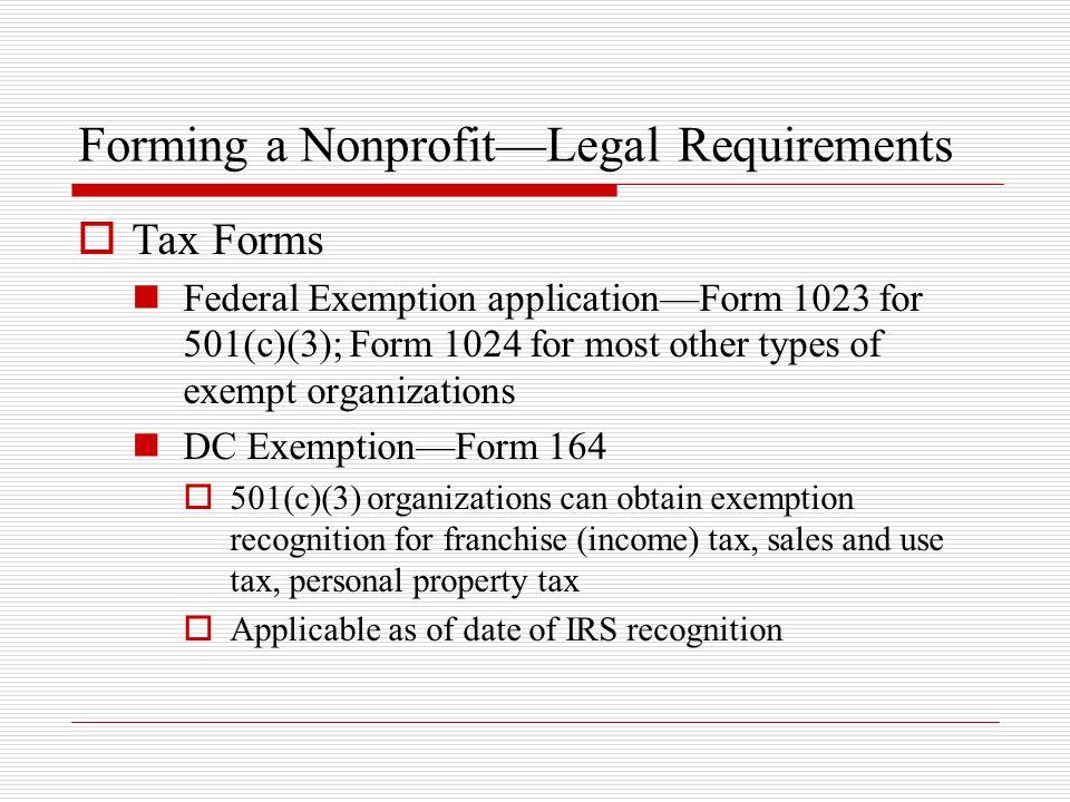 Forming a Nonprofit—Legal Requirements