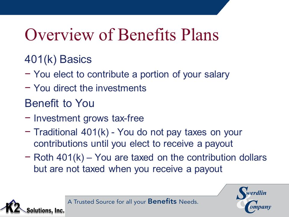 Overview of Benefits Plans