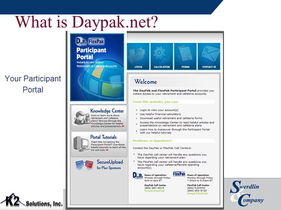 What is Daypak.net Your Participant Portal