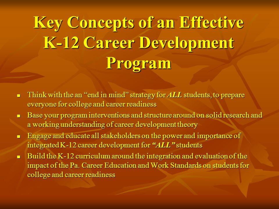 Key Concepts of an Effective K-12 Career Development Program