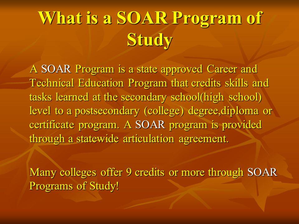 What is a SOAR Program of Study