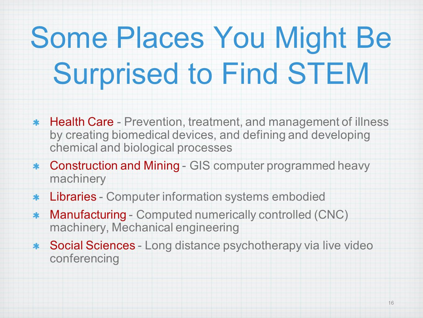 Some Places You Might Be Surprised to Find STEM