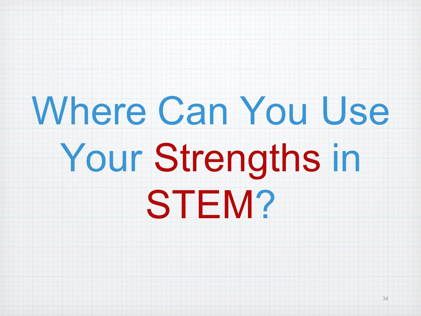 Where Can You Use Your Strengths in STEM