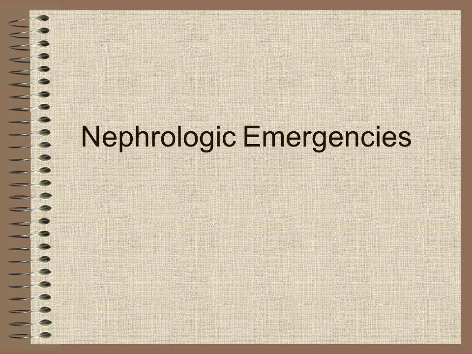 Nephrologic Emergencies