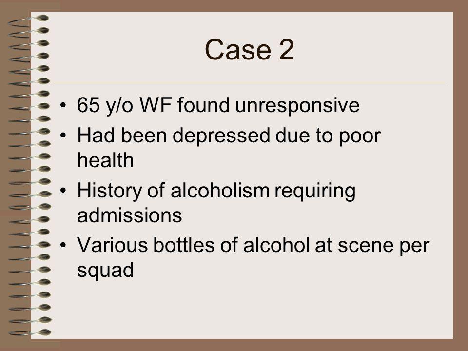 Case 2 65 y/o WF found unresponsive
