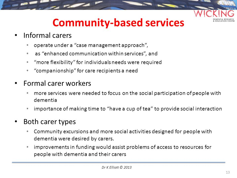Community-based services