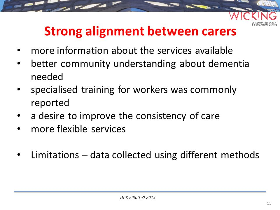 Strong alignment between carers