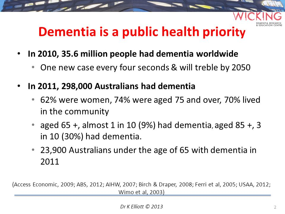 Dementia is a public health priority