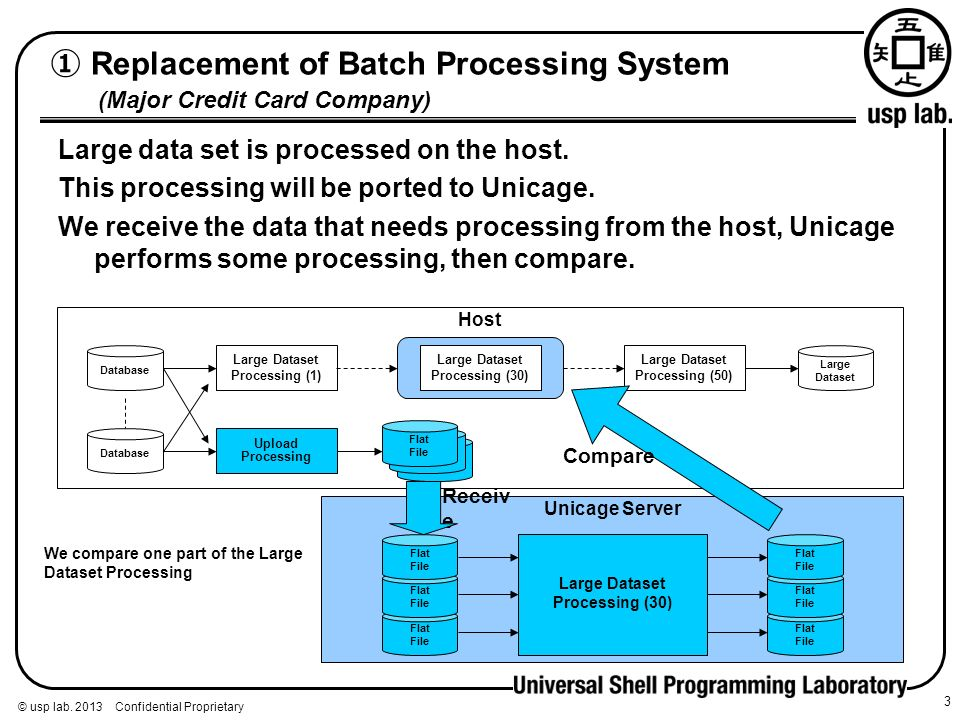 ① Replacement of Batch Processing System (Major Credit Card Company)