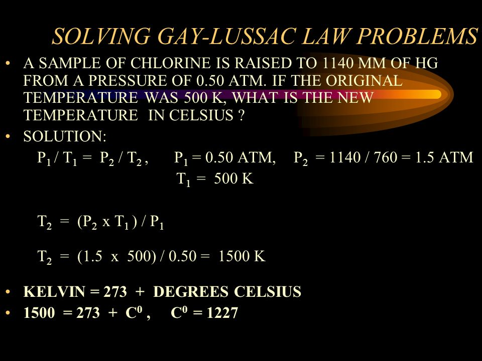SOLVING GAY-LUSSAC LAW PROBLEMS
