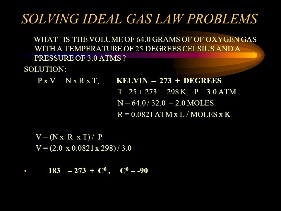 how to solve ideal gas law problems