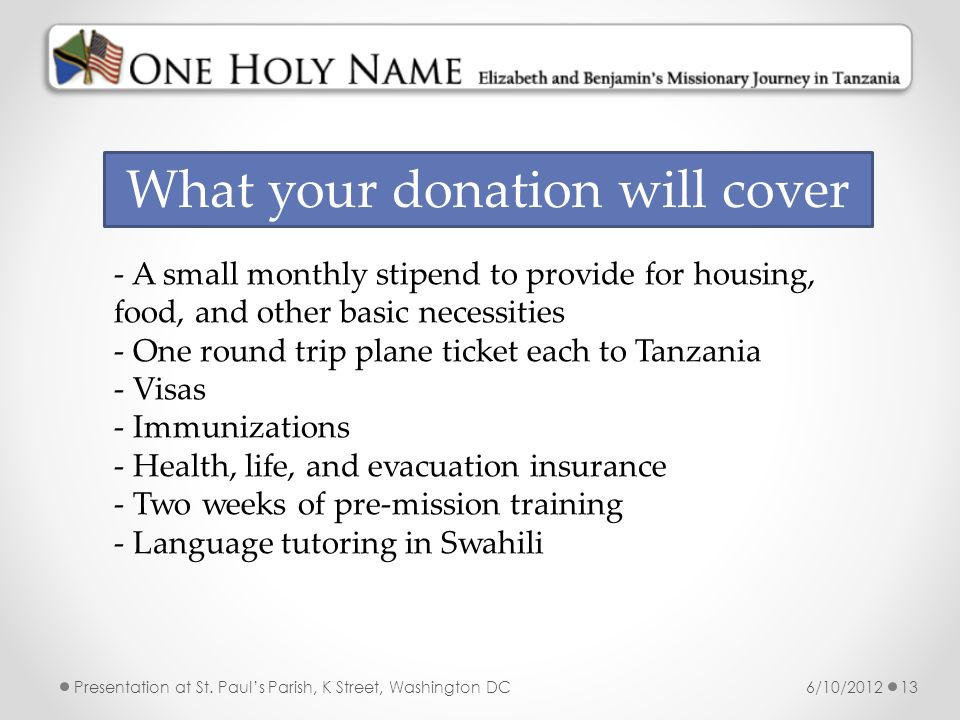 What your donation will cover