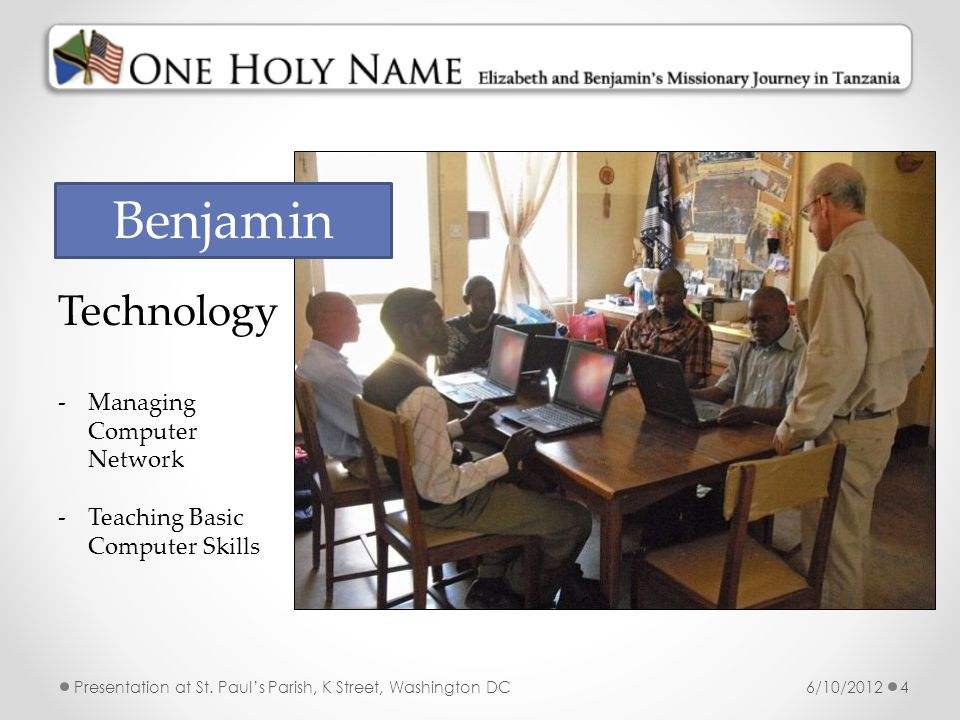Benjamin Technology Managing Computer Network